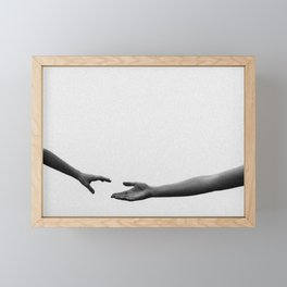 I want to hold your hand Framed Mini Art Print