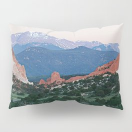 Sunrise at Garden of the Gods and Pikes Peak Pillow Sham