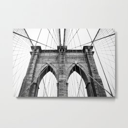 new york #3 - Brooklyn Bridge Metal Print