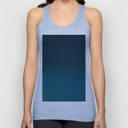 Navy blue teal hand painted watercolor paint ombre Unisex Tank Top