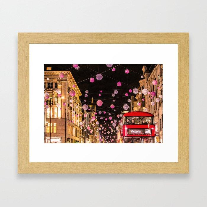 Londn Xmas christmas Framed Art Print
