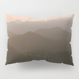 Alps Mountain Layers at Warm and Peaceful Sunrise – Landscape Photography Pillow Sham