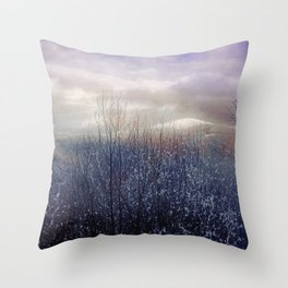Snow in the Trees Throw Pillow