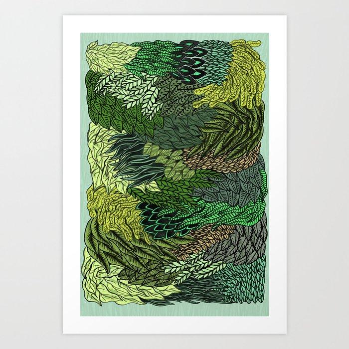 Leaf Cluster Kunstdrucke