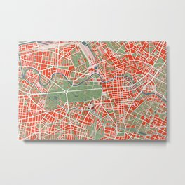 Berlin city map classic Metal Print
