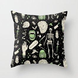 Whole Lotta Horror: BLK ed. Throw Pillow