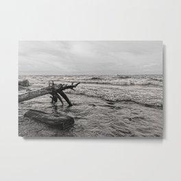 Storm over the lake Metal Print