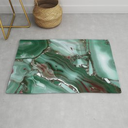 Luxury Malachite Marble Agate  Rug