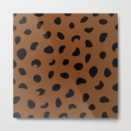 Leopard Print - Orange Brown Metal Print