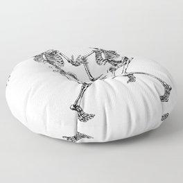Dancing Skeleton Couple Floor Pillow