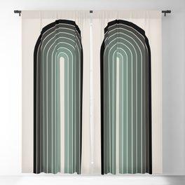 Gradient Arch - Green Tones Blackout Curtain