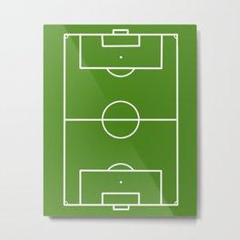 Football field fun design soccer field Metal Print