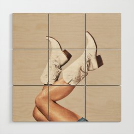 These Boots - Neutral Wood Wall Art