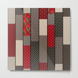 Country motifs . Classic quilting. Metal Print