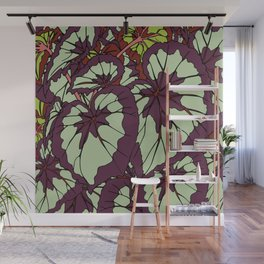 Rex Begonia Illustrated Print Wall Mural
