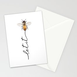 let it bee, let it bee...  Stationery Cards