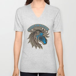 Horse Nation (Blue) Unisex V-Neck