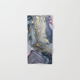 Blush, Payne's Gray and Gold Metallic Abstract Hand & Bath Towel