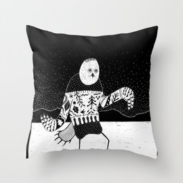 Ookpik Throw Pillow