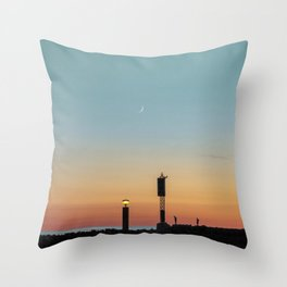 Vintage Sunset Throw Pillow