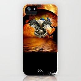 Elephant Ganesha and Earth iPhone Case