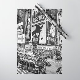 Times Square II (B&W widescreen) Wrapping Paper