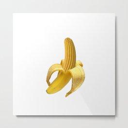 Banana Peel Corn Metal Print
