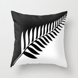 Silver Fern of New Zealand Throw Pillow