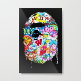 Graffiti Hypebeast Bape Illustration Metal Print