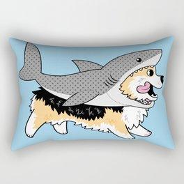 Another Corgi in a Shark Suit Rectangular Pillow