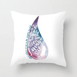 John 7:38 - Living water watercolour Throw Pillow
