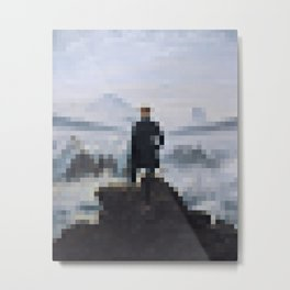 Wanderer Above the Sea of Fog in 2,000 pixels (40x50) Metal Print