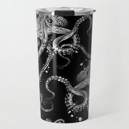 Octopus (black) Travel Mug