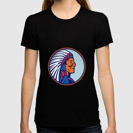 Cheyenne Chief Head Mascot T-shirt