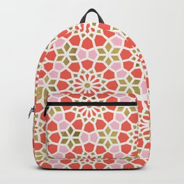 Persian Mosaic – Coral & Gold Palette Backpack