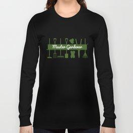 Modern Forest Green Master Gardeners  Long Sleeve T-shirt