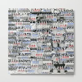 Stealing Actualized Icons (P/D3 Glitch Collage Studies) Metal Print