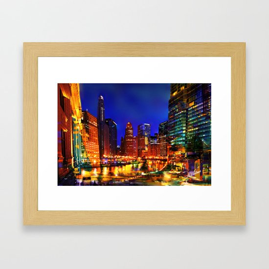 Chicago at Dusk by marywhitmer