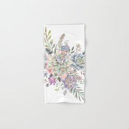 succulent watercolor 8 Hand & Bath Towel