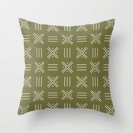 Simple African tribal pattern 3 Throw Pillow