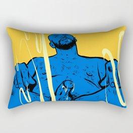 Come here! Man sitting  Rectangular Pillow