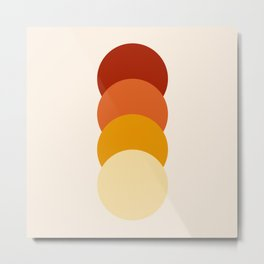 4 Classic Retro Dots Bricta Metal Print