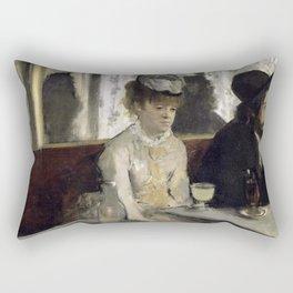 The Absinthe Drinker by Edgar Degas Rectangular Pillow