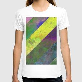 45 Degrees - Abstract, textured, diagonal stripes T-shirt