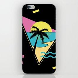 Memphis pattern 42 - 80s / 90s Retro / palm tree / summer iPhone Skin