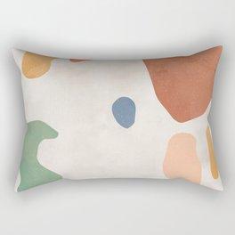 Organic Terracotta Thin Shapes  Rectangular Pillow