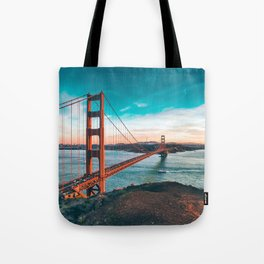 Fantastic Hillside View Famous Golden Gate Bridge San Francisco California USA Ultra HD Tote Bag