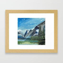 Acrylic Mountain Scene Framed Art Print