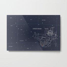 Starscream Star Chart Metal Print