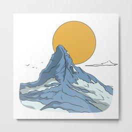 View of mountain peaks and lakes Metal Print